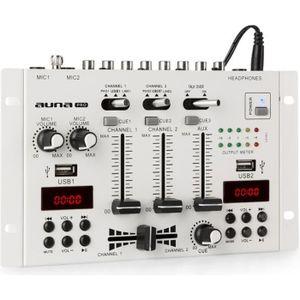 TABLE DE MIXAGE auna DJ-22BT MKII  Table de mixage DJ avec Bluetoo