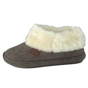 CHAUSSON - PANTOUFLE pantoufles de chausson chaud doublé chaud femme UL