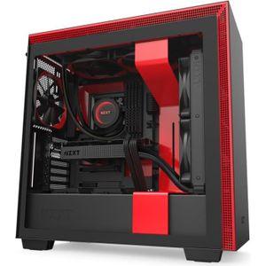 BOITIER PC  NZXT H710 Noir/Rouge - Boîtier moyen tour avec fen