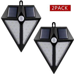 PROJECTEUR EXTÉRIEUR 2 pièces lampe solaire extérieure luminaire eclair