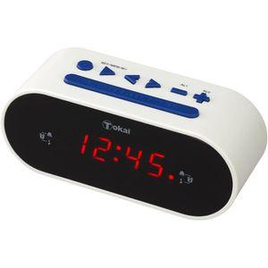 Radio réveil TOKAÏ TC155W Radio réveil Tuner digital FM - Blanc