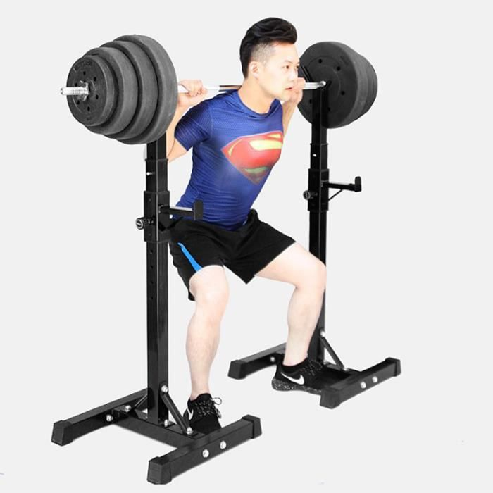 Bilingda® Squat Rack Haltérophilie Réglable Support Rack à exercice Fitness Squat Rack Réglable Barbell