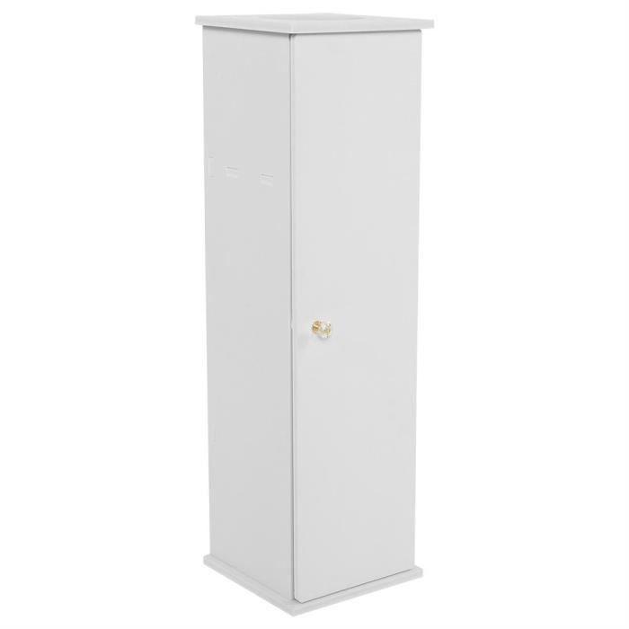 Cabinet de papier de toilette Support de meuble de toilette (blanc) -CHN