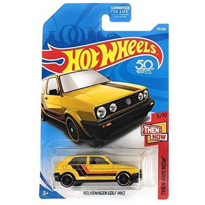 Voiture Electrique RHF6Q ot Weels 2018 50t anniversaire Dix et maintenant Volkswagen Golf MK2 171-365, Jaune