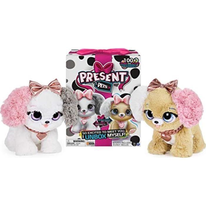 Peluche KBXUU Present Pets, Jouet en peluche interactif pour chiot fantaisie avec plus de 1 sons et actions