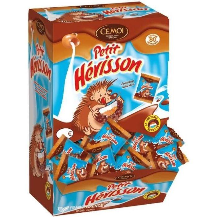 CEMOI Distributeur L'Autentique Petit Hérisson Guimauve - Chocolat au Lait - 11 g x 80 flowpackés - 880 g