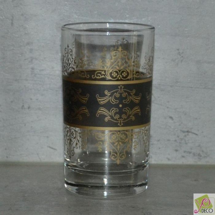 Lot de 6 verres à thé Shéhérazade Noir