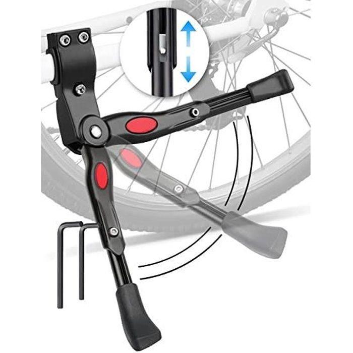 bequille velo, béquille universelle réglable pour bicyclette pour adultes et enfants, support bequille vtt en alliage d'aluminium po