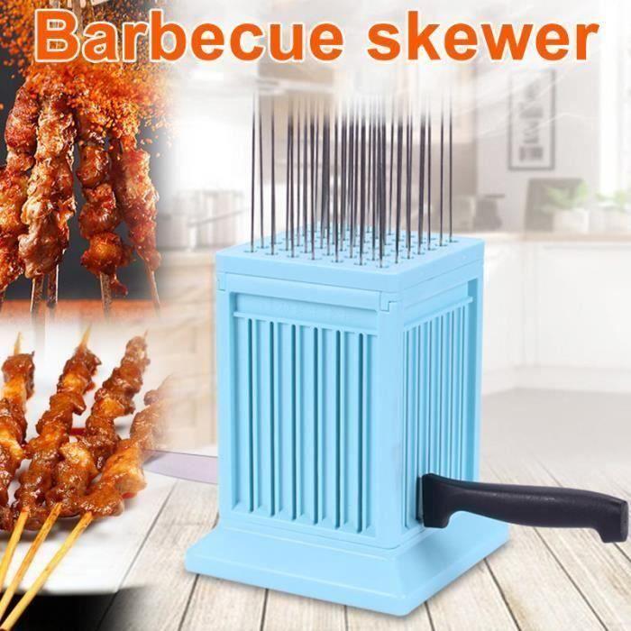 49 Trous Viande Brochette Kebab Maker Boîte Machine À Bœuf Viande Maker Grill Barbecue Cuisine Accessoires BBQ Outils pour Camping