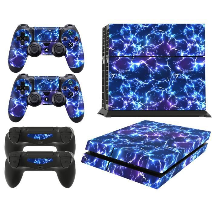 GNG PS4 Console Electric Storm From Starwars Skin Decal Vinal Sticker + 2 Controller Skins Set
