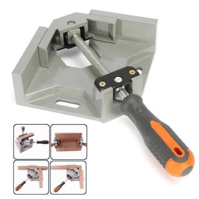 Étau à Angle Droit Simple 90 degrés En Alliage D'aluminium Die-casting Outil Soudure de Meuble Cadre ens31872