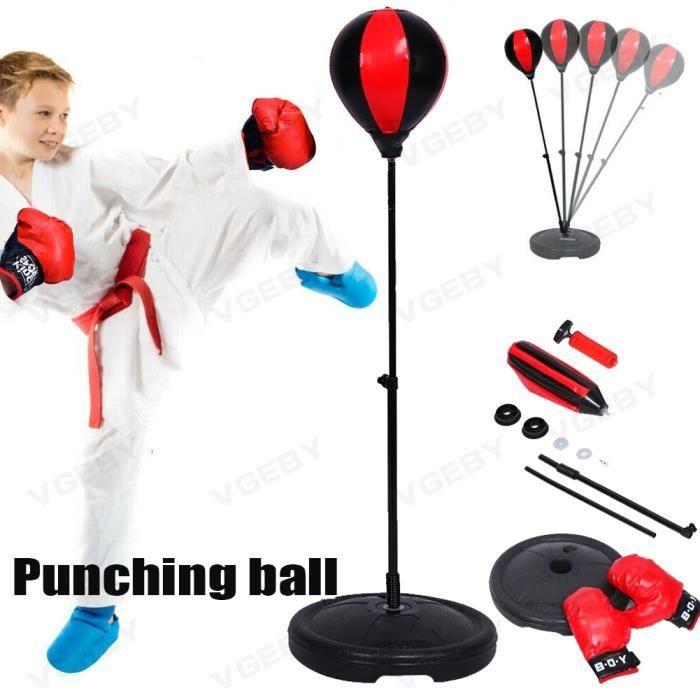 PUNCHING BALL poire de boxe sur pied en hauteur 70-105cm Balle de Boxe pour enfant -CYA