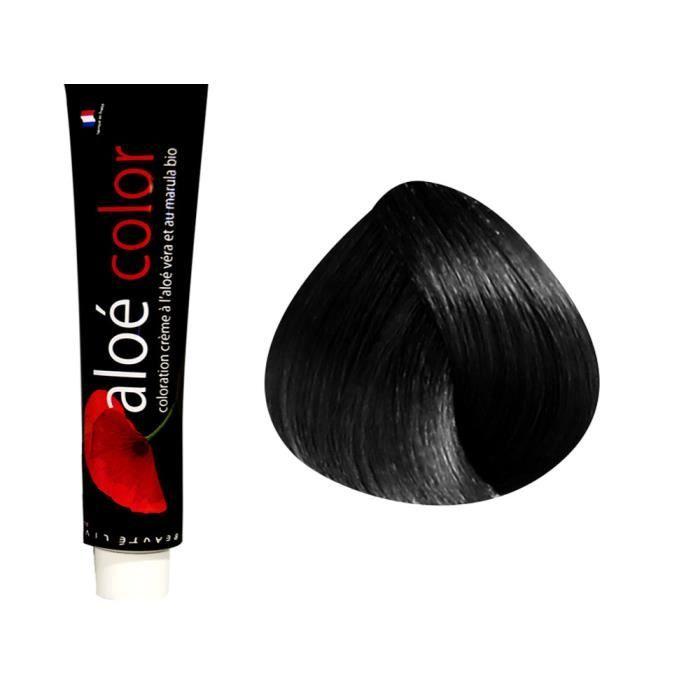 Beautélive Coloration crème à l'aloé véra et au marula Naturels, 1.0 : Noir Avec ammoniaque, 100ml