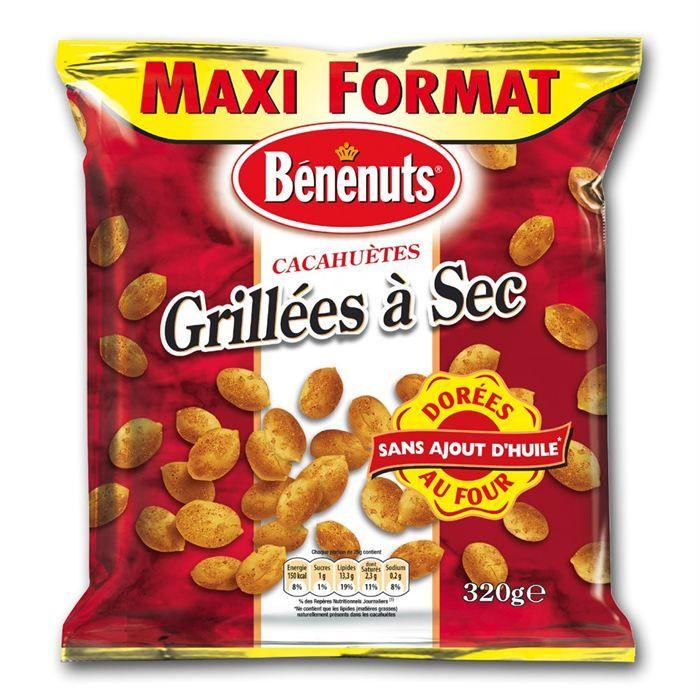 BENENUTS Cacahuètes Grillées 320g