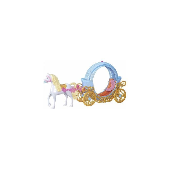 Le carrosse magique de Cendrillon transformable en citrouille - Caleche avec cheval - Accessoire poupee Disney Princess