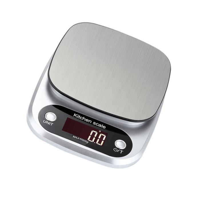 Balance de Cuisine en acier inoxydable numérique multifonctions Écran LCD 10 balance culinaire electronique preparation culinaire