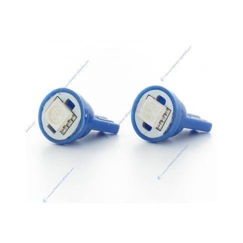 2 x Ampoules 1 LED SMD BLEU - T10 W5W