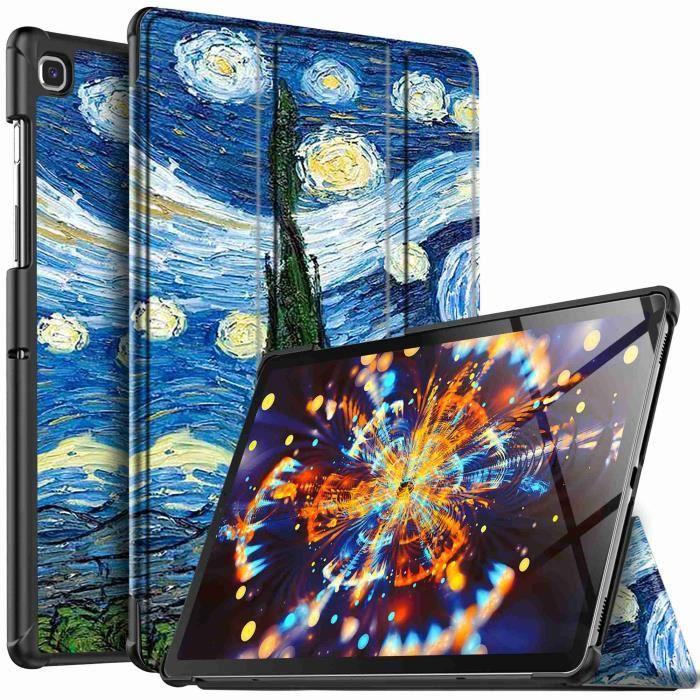 Ivso Samsung Galaxy Tab S5e Etui, Ultra Slim Pu Leather etui Housse pour Samsung Galaxy Tab S5e,Sky