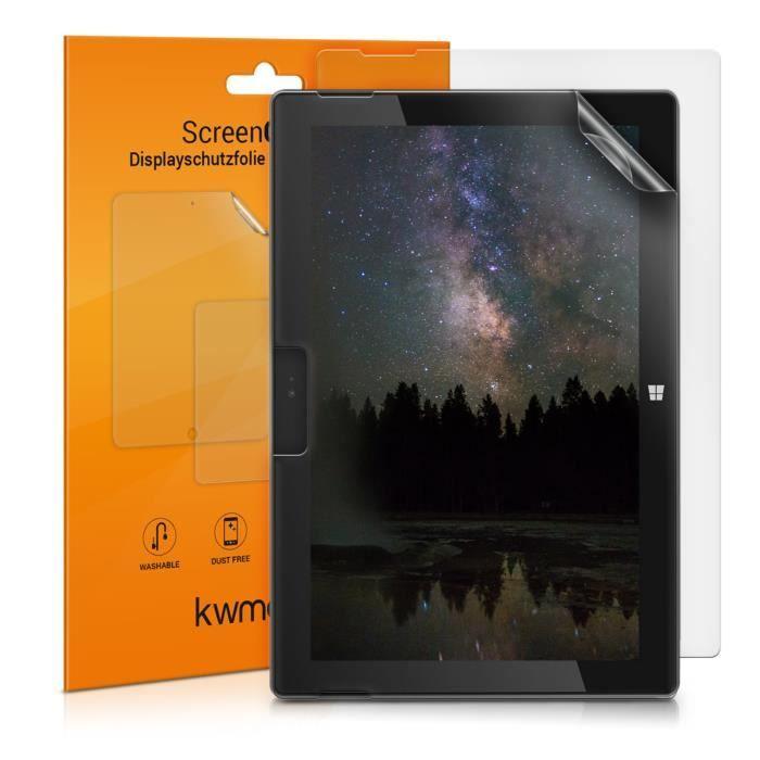 kwmobile 2x Protection écran Microsoft Surface Go Set de film de protection plastique mat pour tablette Microsoft Surface Go
