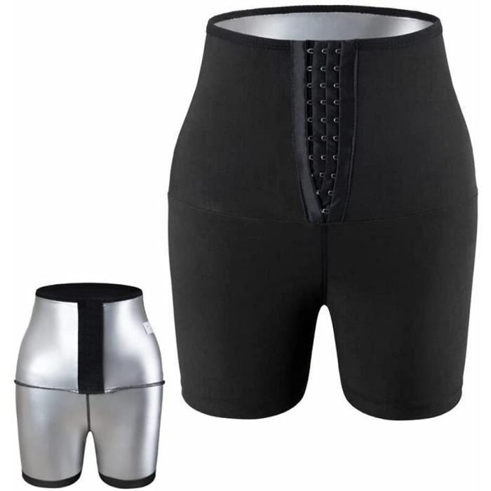 Pantalon de Sudation Femmes, Legging de Sport à Taille Haute Noir Shorts pour Accélérer Transpiration, Lifting des fesses, Obtenir