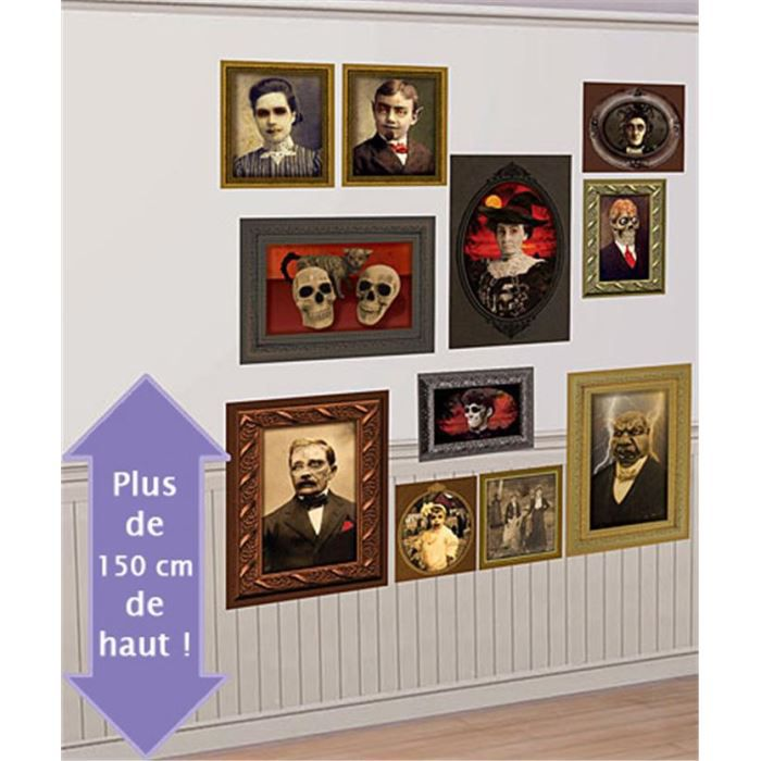 d corations murales portraits halloween achat vente d co de f te murale plastique cdiscount. Black Bedroom Furniture Sets. Home Design Ideas