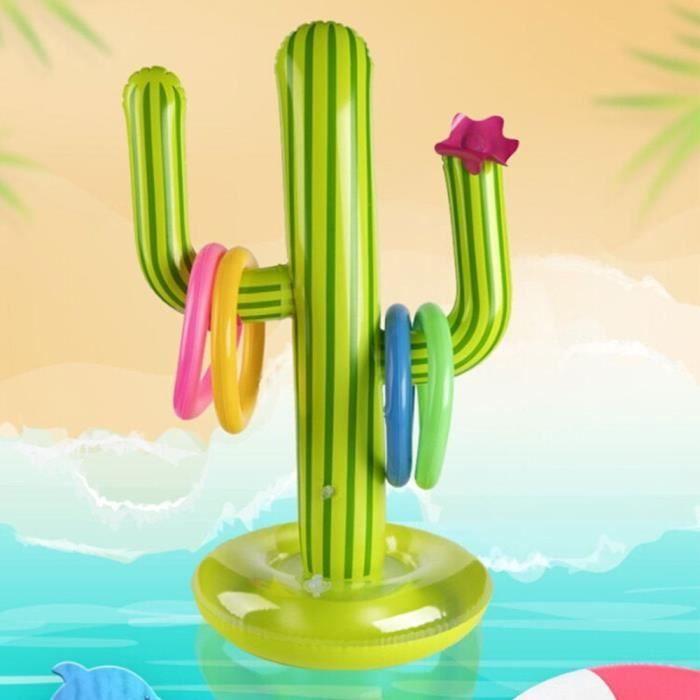 KERDEJAR 5 pi/èces Gonflable Cactus Anneau Lancer Jeu Gonflable Lancer Jeu Piscine Jouets Luau f/ête Fournitures int/érieur ext/érieur Jeu pour Enfants Adultes /ét/é