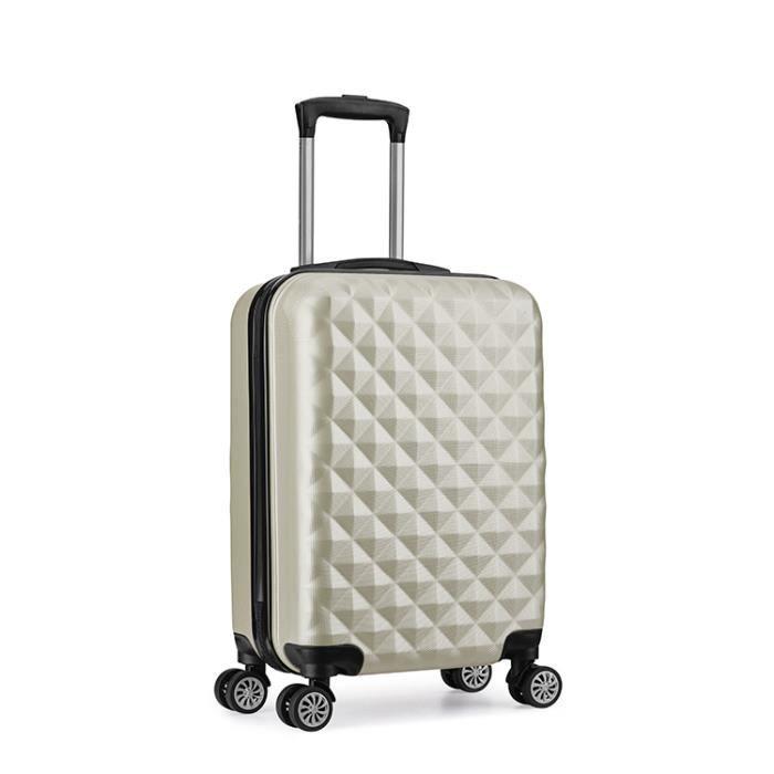 VALISE - BAGAGE Valise cabine 55 cm ABS bagage cabine rigide 4 rou