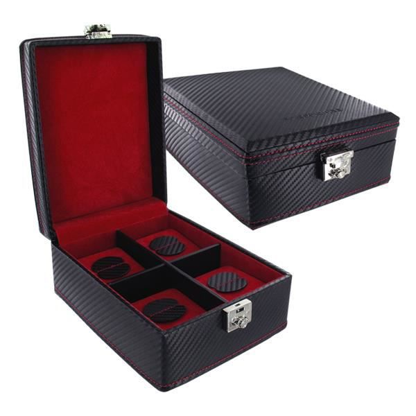 coffre coffret boite a montre 4 montres achat vente. Black Bedroom Furniture Sets. Home Design Ideas