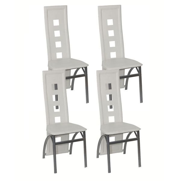 Lot 4 chaises design blanches achat vente chaise - Lot 4 chaises blanches ...