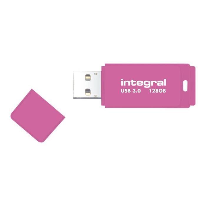CLÉ USB INTEGRAL Clé USB Neon - 16 Go - USB 3.0 - Rose