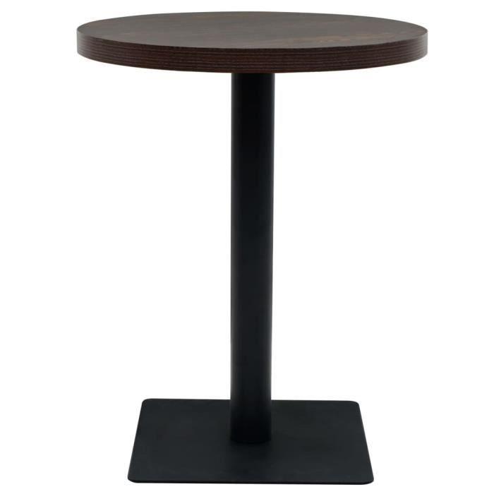 MANGE-DEBOUT KKmoon Table de Bar MDF et Acier Rond 60 x 75 cm F