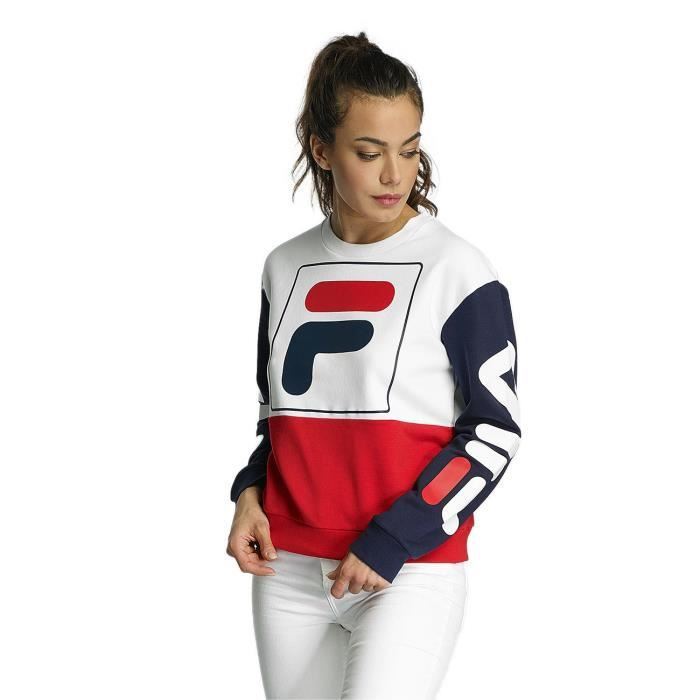 fila femme hauts sweat pull urban line date blanc blanc achat vente sweatshirt cdiscount. Black Bedroom Furniture Sets. Home Design Ideas