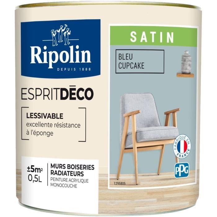 PEINTURE - VERNIS RIPOLIN Peinture Murale Toutes Pièces  - Bleu Cupc