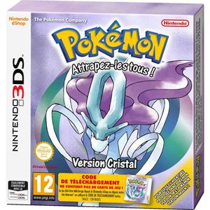 JEU 3DS Pokemon Version Cristal jeu 3DS