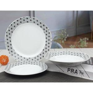 SERVICE COMPLET Service de Table 18 pièces en porcelaine formes gé