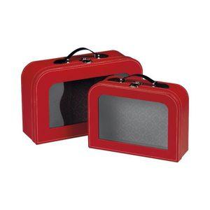 COFFRET CADEAU ÉPICERIE Valise rouge avec fenêtre