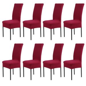 Honeyhome 8pcs Housse De Chaise Rev Tement Housse