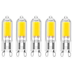 AMPOULE - LED Bonlux 5-pcs 2W G9 Culot Capsules COB LED Ampoule