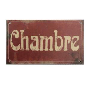 chemin/_de/_campagne Plaque de Porte Salle de Bain Fer Style Ancien Gris C/œur 13 cm