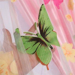 RIDEAU 100 cm x 200 cm Papillon Imprimer Sheer Fenêtre Pa