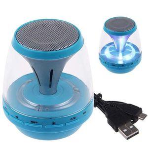 ENCEINTES Bleu Mini Portable LED Bluetooth Speaker Enceinte