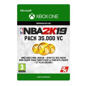 EXTENSION - CODE DLC NBA 2K19 : 35 000 VC pour Xbox One