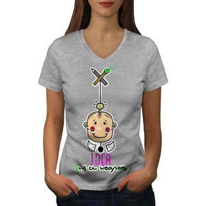 T-SHIRT Idée Cool Conception Mode Women  T-shirt à sonneri