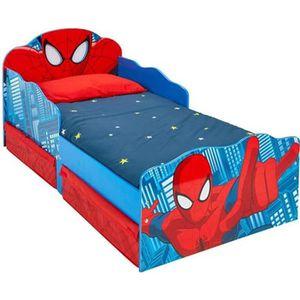 STRUCTURE DE LIT Lit enfant Spiderman design tiroirs de rangement t