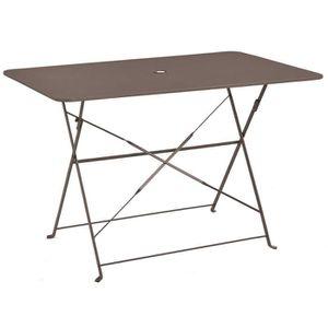 TABLE À MANGER SEULE Table pliante rectangulaire en métal coloris Crema