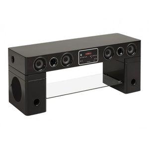 Meuble Tv Home Cinema Integre Watts Ii Bluetooth Noir