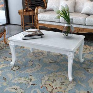 TABLE BASSE vidaXL Table basse 100 x 60 x 42 cm Laquée Blanc