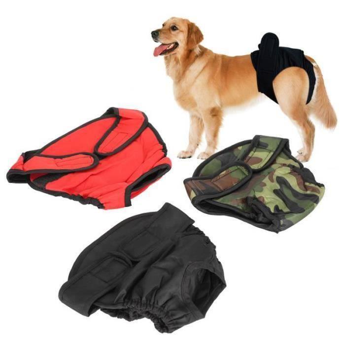 DUO pantalon hygiénique pour chien Pantalon menstruel pour chiens Culotte physiologique sanitaire en tissu Couche pour animaux L