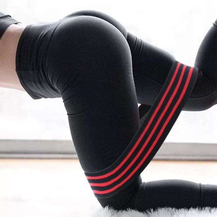 Bandes de Résistance Élastique Puissance Hanches Yoga GYM Exercice Bandes Ceinture Squats - Rouge / Taille: M