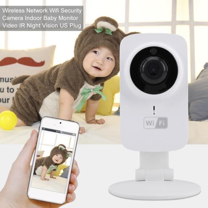 Bébé Vidéo Babyphone-Moniteur Bébé sans Fil avec Caméra Surveillance,Caméra Wifi,Vidéo IR Vision de nuit